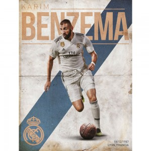 Print 30X40 Cm Real Madrid Benzema
