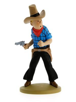 Resina Tintín Cowboy · Escala 12cm